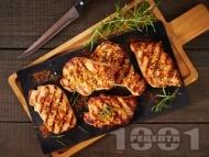 Рецепта Свинско бон филе на грил с марината с лимон, горчица, мед, чесън и ароматни подправки